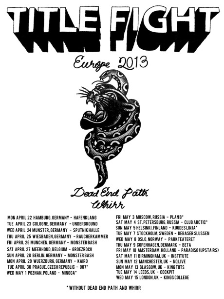 Title Fight - European Tour 2013