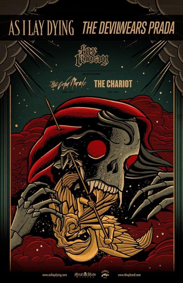 As I Lay Dying - Marathon Metalcore Tour