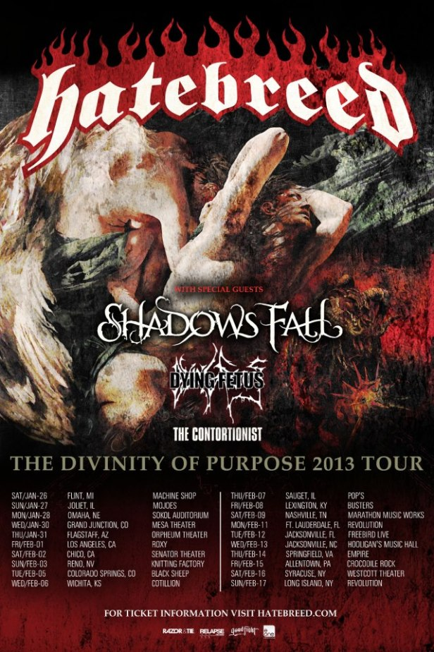 HateBreed - Divinity of Purpose Tour 2013