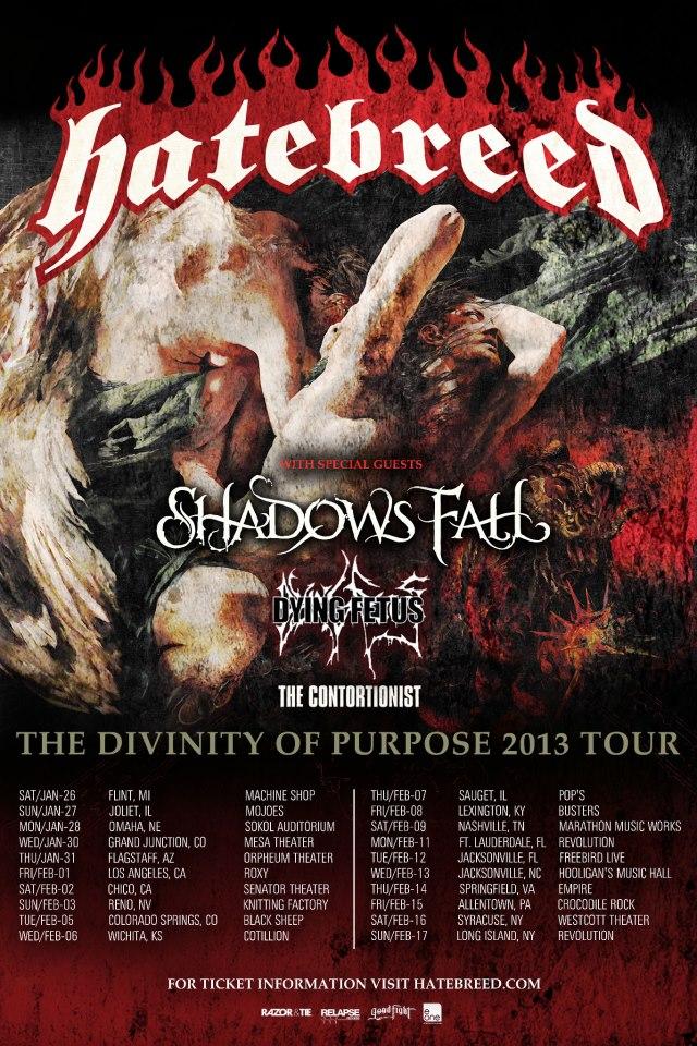 HateBreed - Divinity of Purpose Tour 2013