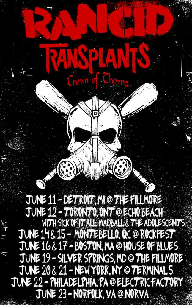 Rancid Tour 2013