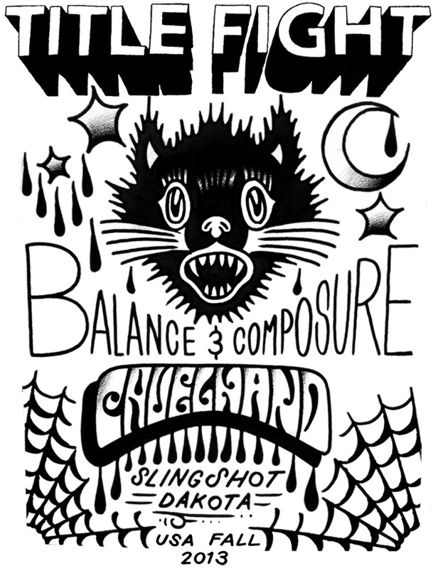 Title Fight - Balance and Composure - Cruel Hand - Slingshot Dakota - Fall US Tour