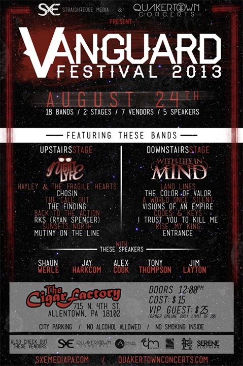 Vanguard Fest '13 - Poster