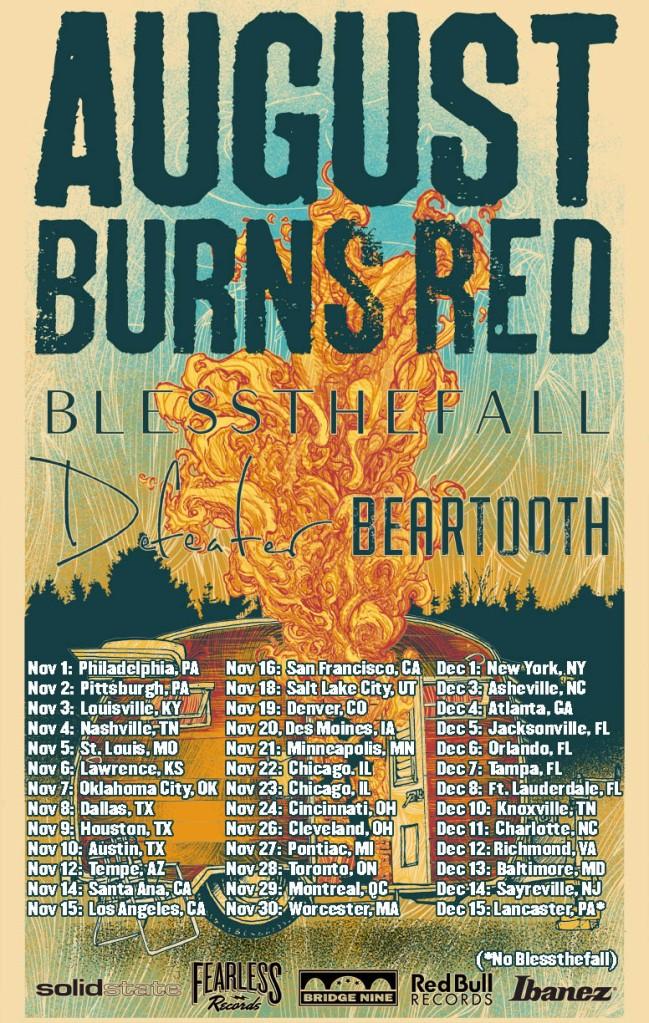 August Burns Red headline tour - 2013