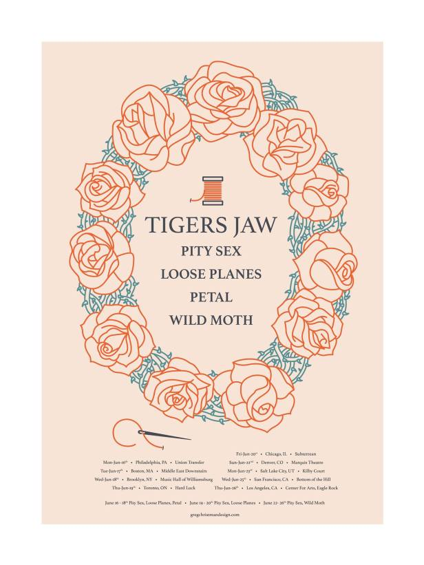 Tigers Jaw summer tour w: Pity Sex, Petal