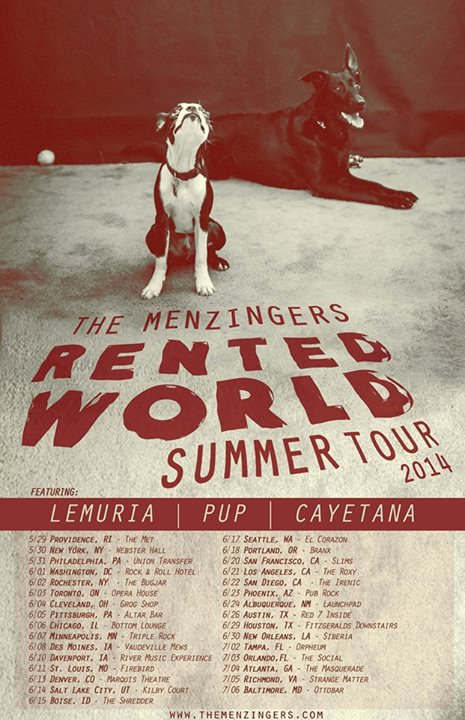 The Menzingers - Rented World Summer Tour 2014