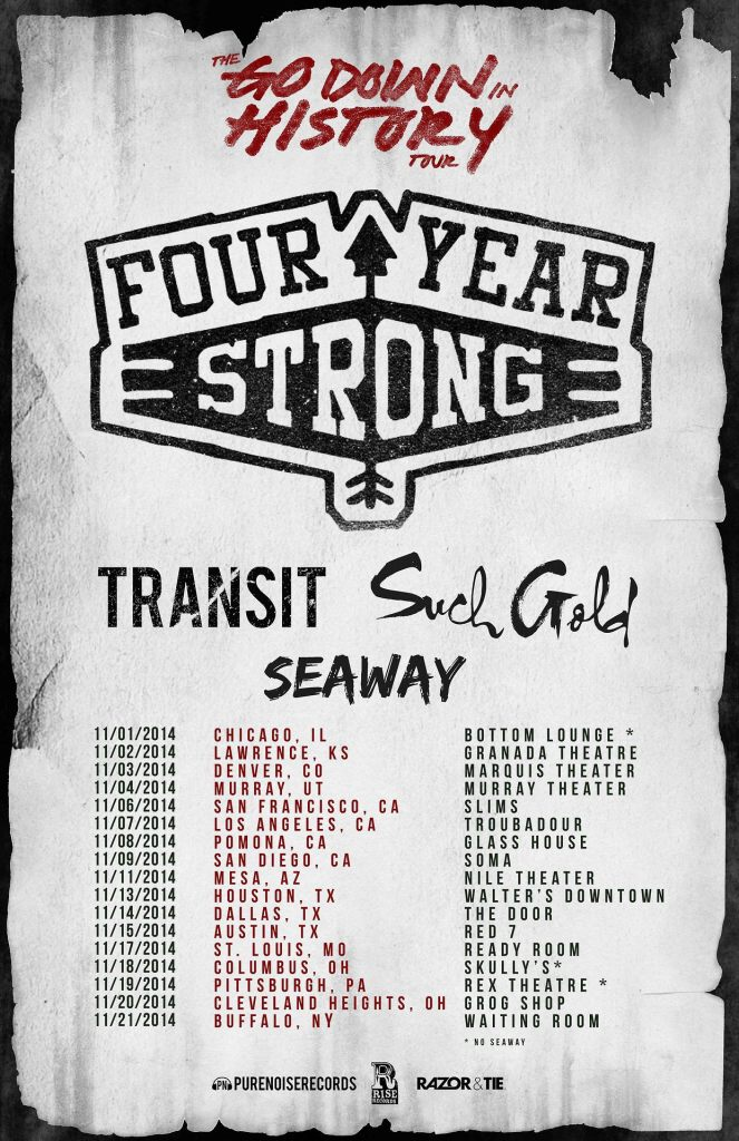 Four Year Strong - Go Down in History Tour