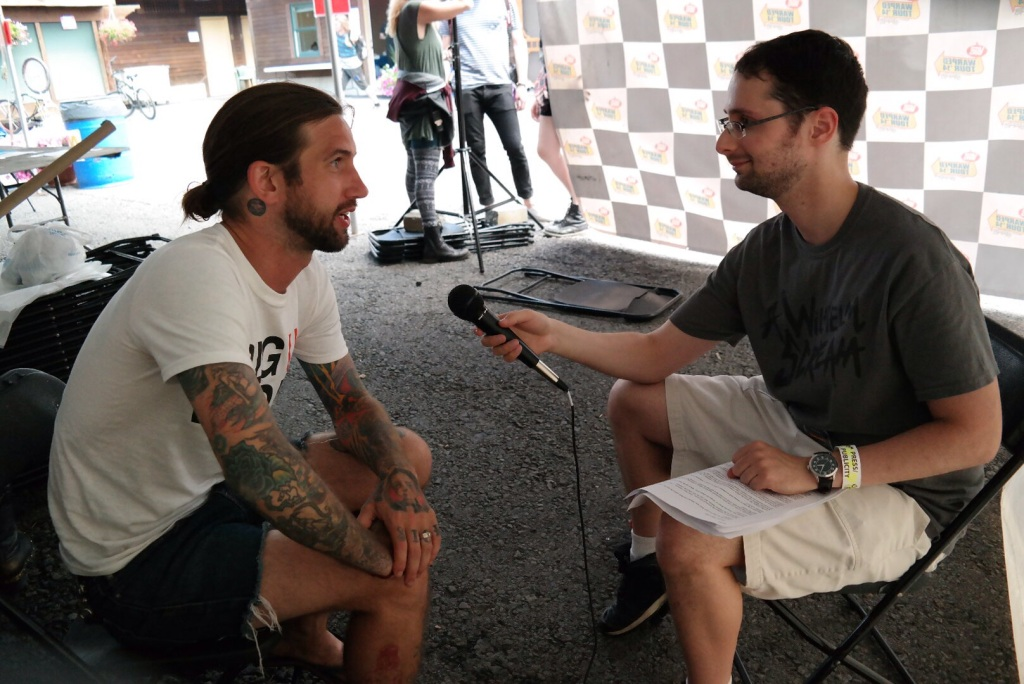 Keith Buckley - wxlv interview ©2014 Henry Chung