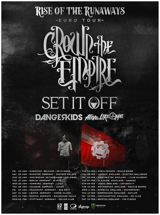 Crown The Empire - Rise of the Runaways Euro Tour
